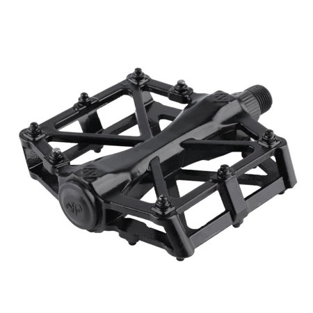 Pair Aluminum Alloy Flat Platform Bicycle Cycling Riding Pedals Treadle - image 4 of 8