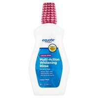 Equate Lustrous White Multi-Action Whitening Rinse, Clean Mint, 32 fl oz, 2 Pack
