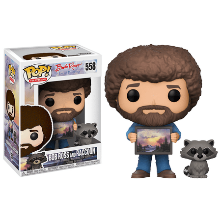 FUNKO POP! TELEVISION: Bob Ross - Bob Ross With Raccoon (Assymetrical Bob)