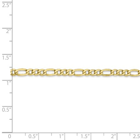 10k Yellow Gold 3.5mm Link Figaro Chain Anklet Ankle Beach Bracelet 8 Inch : Fine Jewelry For Women Gifts For Her - image 4 de 8