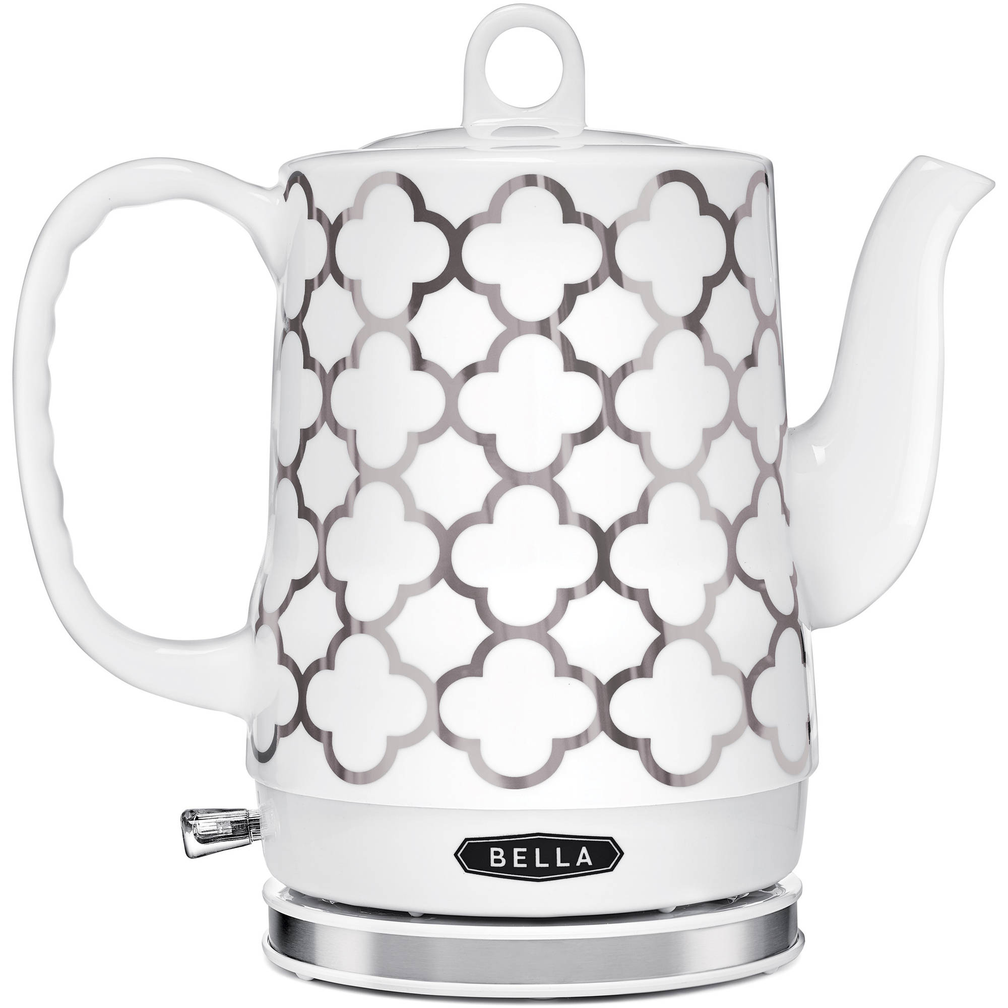 Bella 1.2 L Silver Ceramic Kettle by Sensio