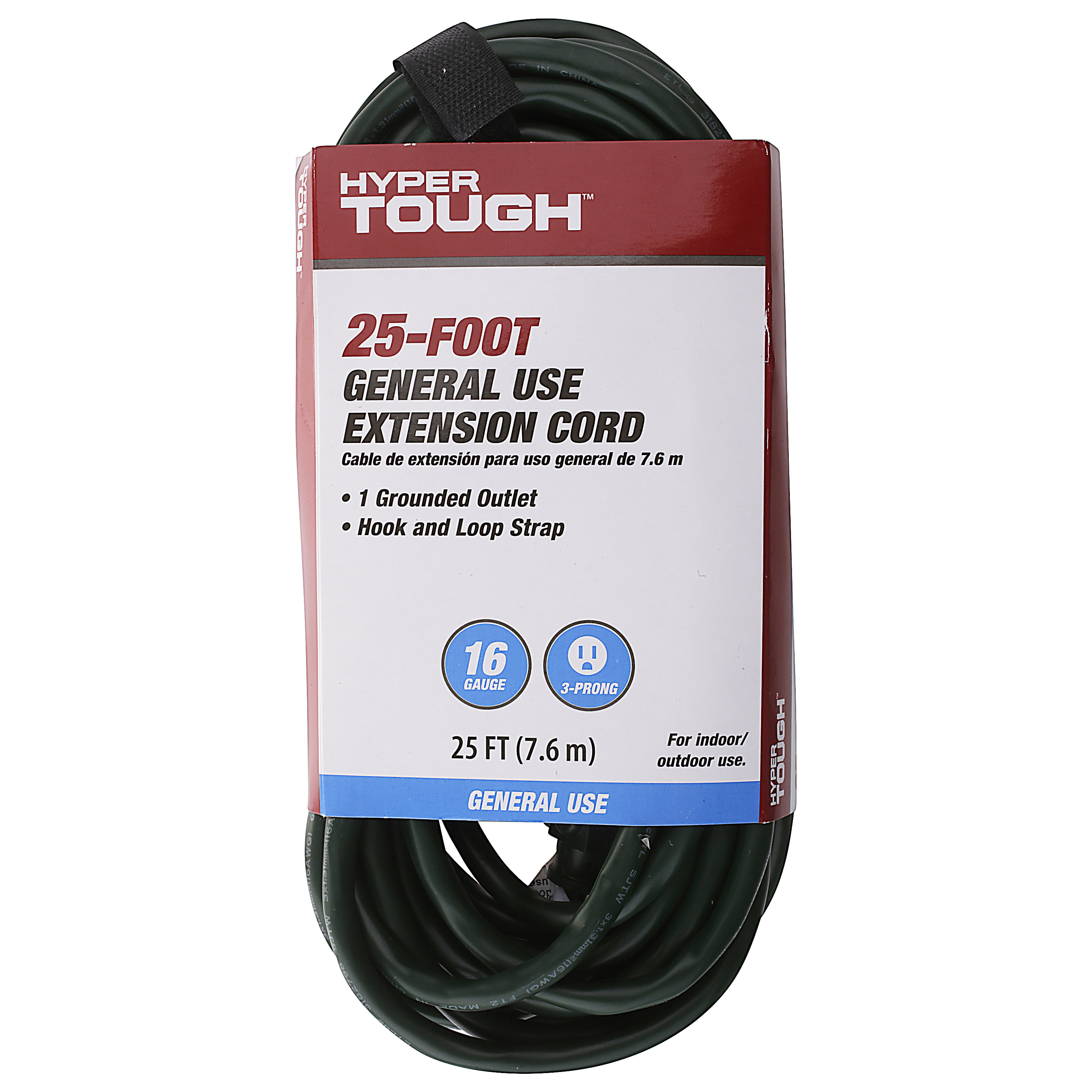 HyperTough 25 Foot Outdoor Extension Cord - Walmart.com