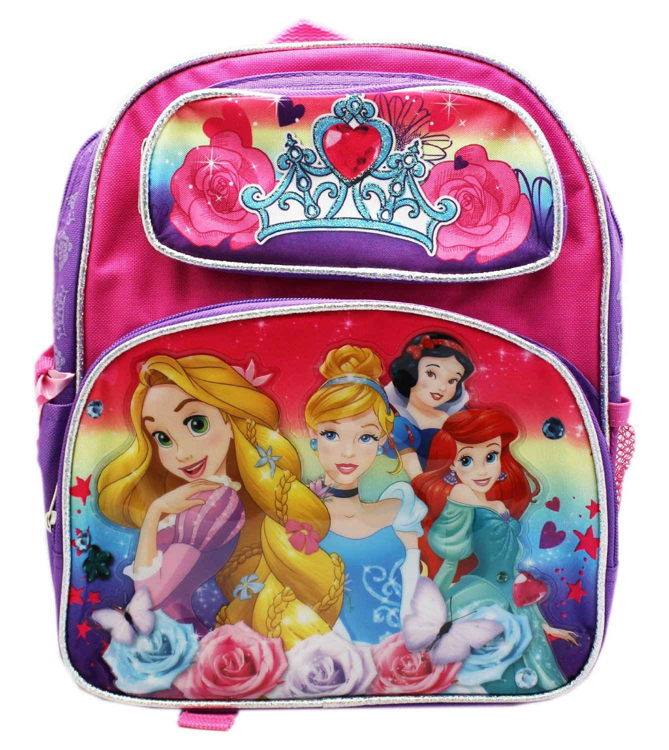 "Small Backpack - Dinsey - Princess Vibrant Rainow 12"" New 655969"