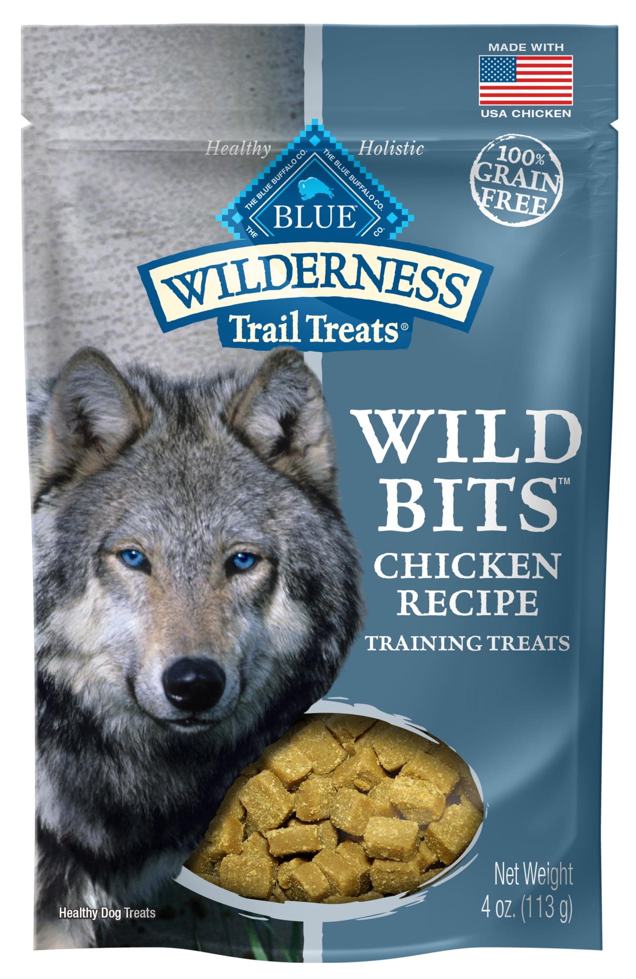 Blue Buffalo Wilderness Trail Treats Wild Bits Grain Free Soft-Moist Training Dog Treats, Chicken Recipe by Blue Buffalo