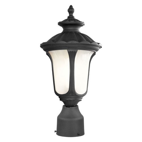 Livex Oxford 7667-04 1-Light Outdoor Post Head in Black