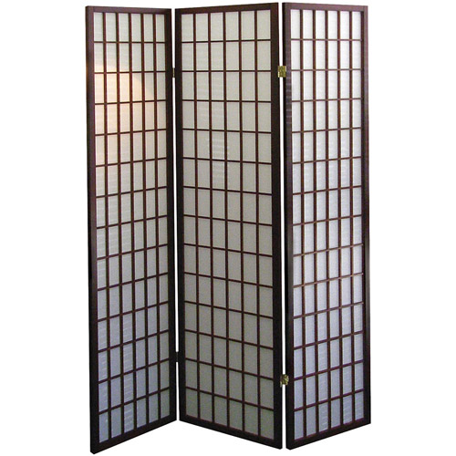 ORE International 3-Panel Room Divider, Cherry