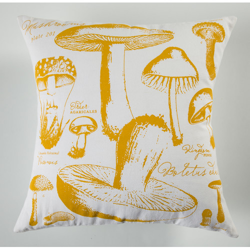 Koko Company Uruli Mushroom Cotton Throw Pillow