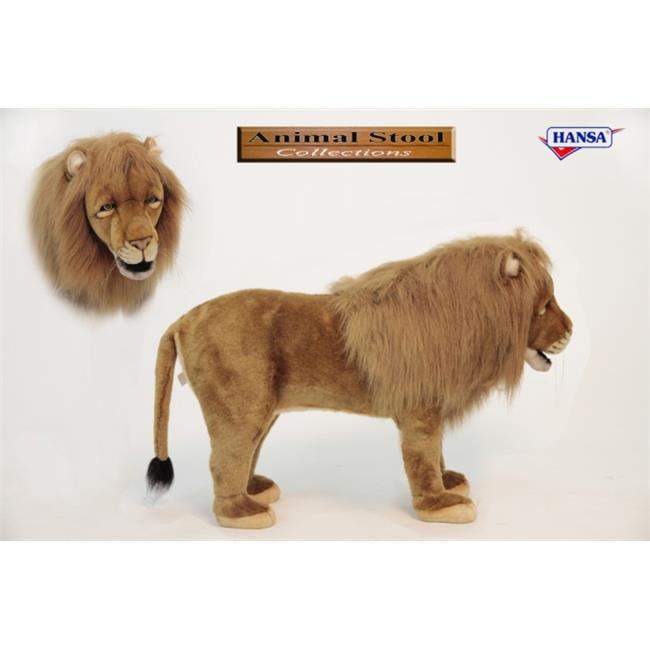 Hansa 6079 LION STOOL 32 inch L x 21 inch H