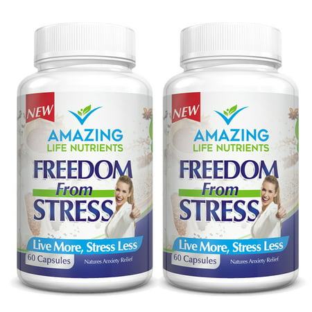 Natural Anti Anxiety Stress Relief Supplement Pills ...