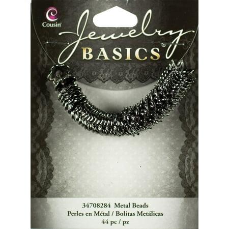 Cousin Jewelry Basics Metal Beads, 10mm, 44pk, Gunmetal Mixed Cap