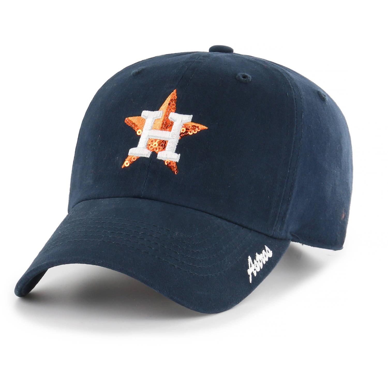 Women's '47 Navy Houston Astros Sparkle Adjustable Hat OSFA by Overstock