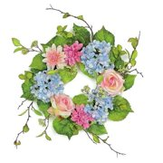 Northlight Seasonal Rose and Hydrangea Artificial Floral 6'' Wreath