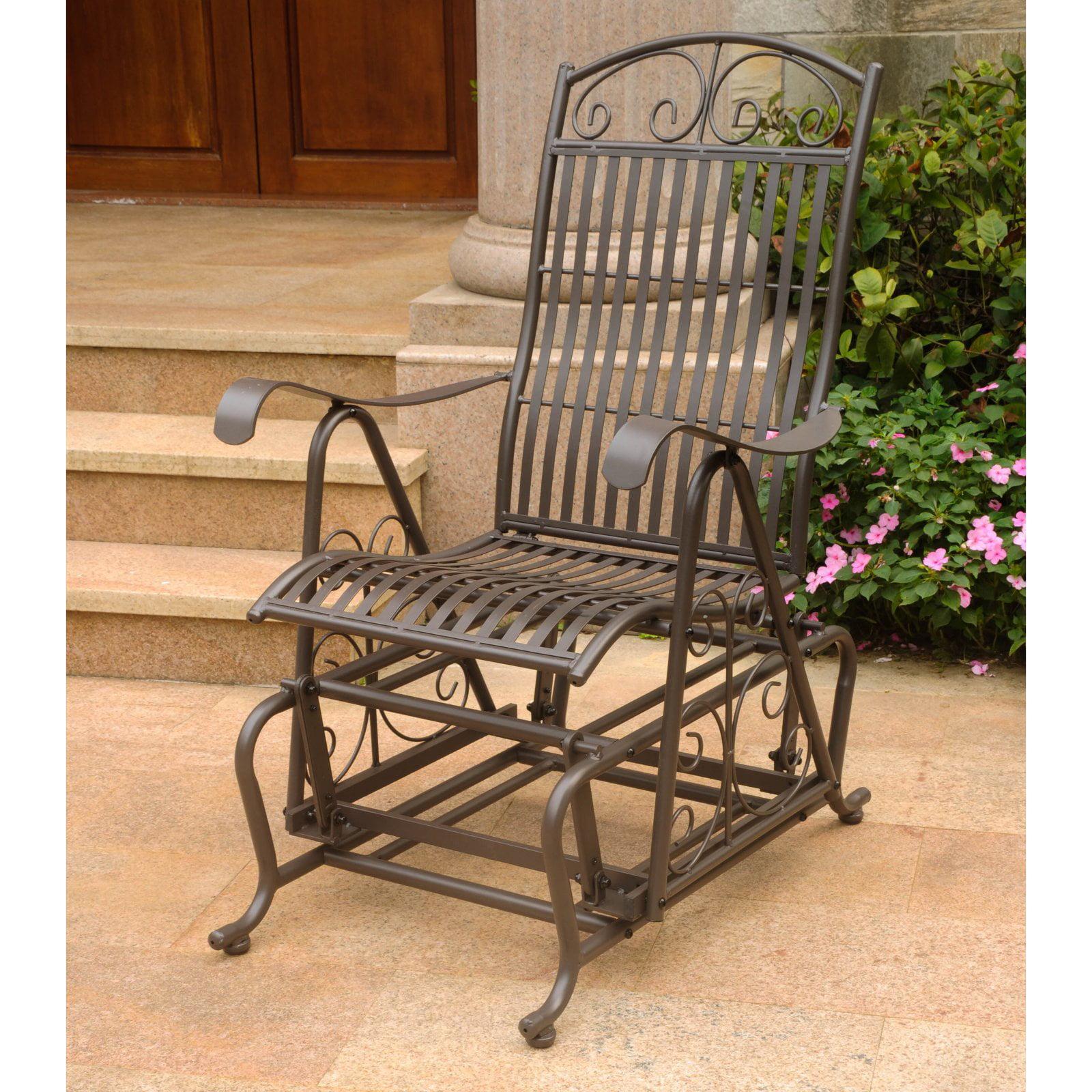 International Caravan Tropico Iron Outdoor Glider Chair