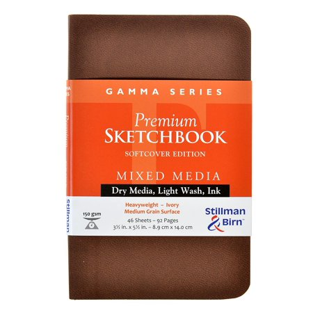 Gamma Series Softcover Sketchbooks 3.5 in. x 5.5 in., portrait, 96 pages (pack of 2)