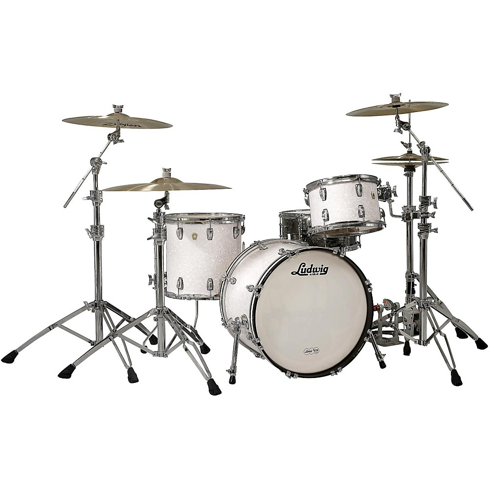 """Ludwig Classic Maple 3-Piece Shell Pack with 20"""" Bass Drum White Marine Pearl by Ludwig"""