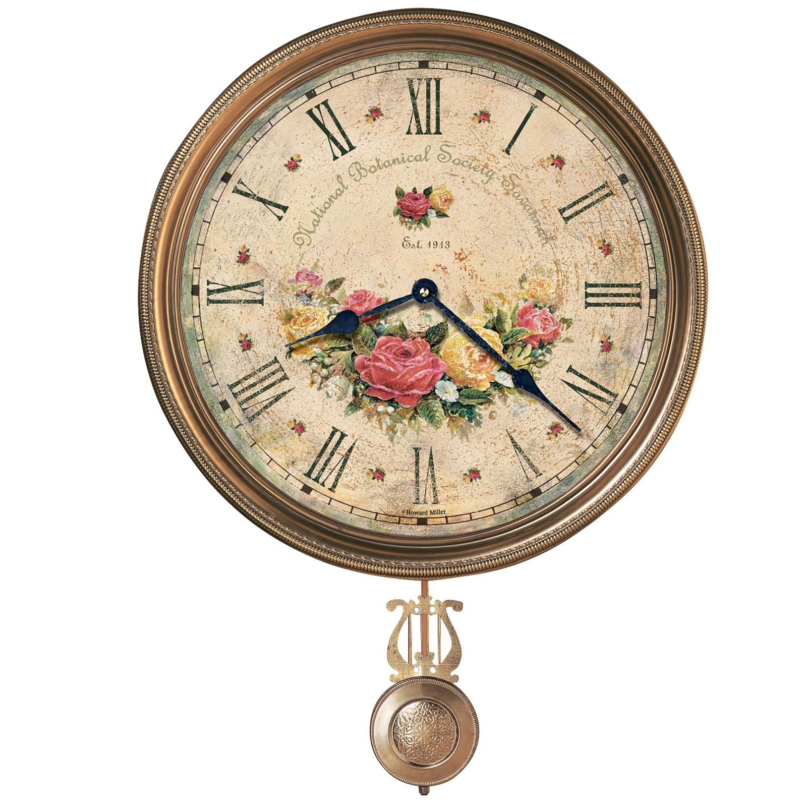 Howard Miller Savannah Botanical VII Wall Clock - 15 in. Wide