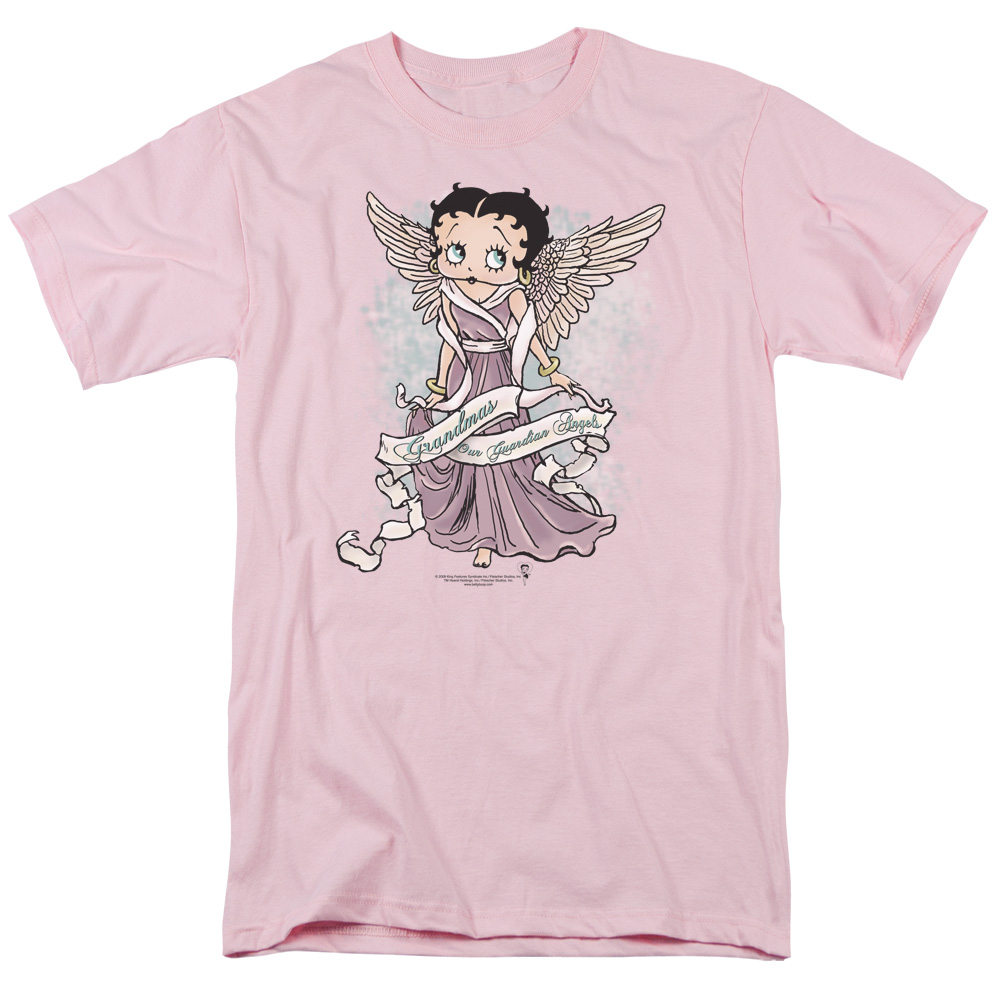 Betty Boop Grandma Guardian Angel Mens Short Sleeve Shirt