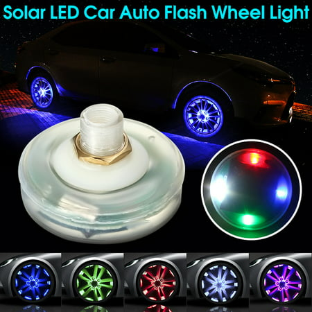 13 Mode Car Auto Waterproof Solar Energy Flash Wheel Tire Rim Led Light Lamp 4 Energy Lights Light (Rim 4 Light)