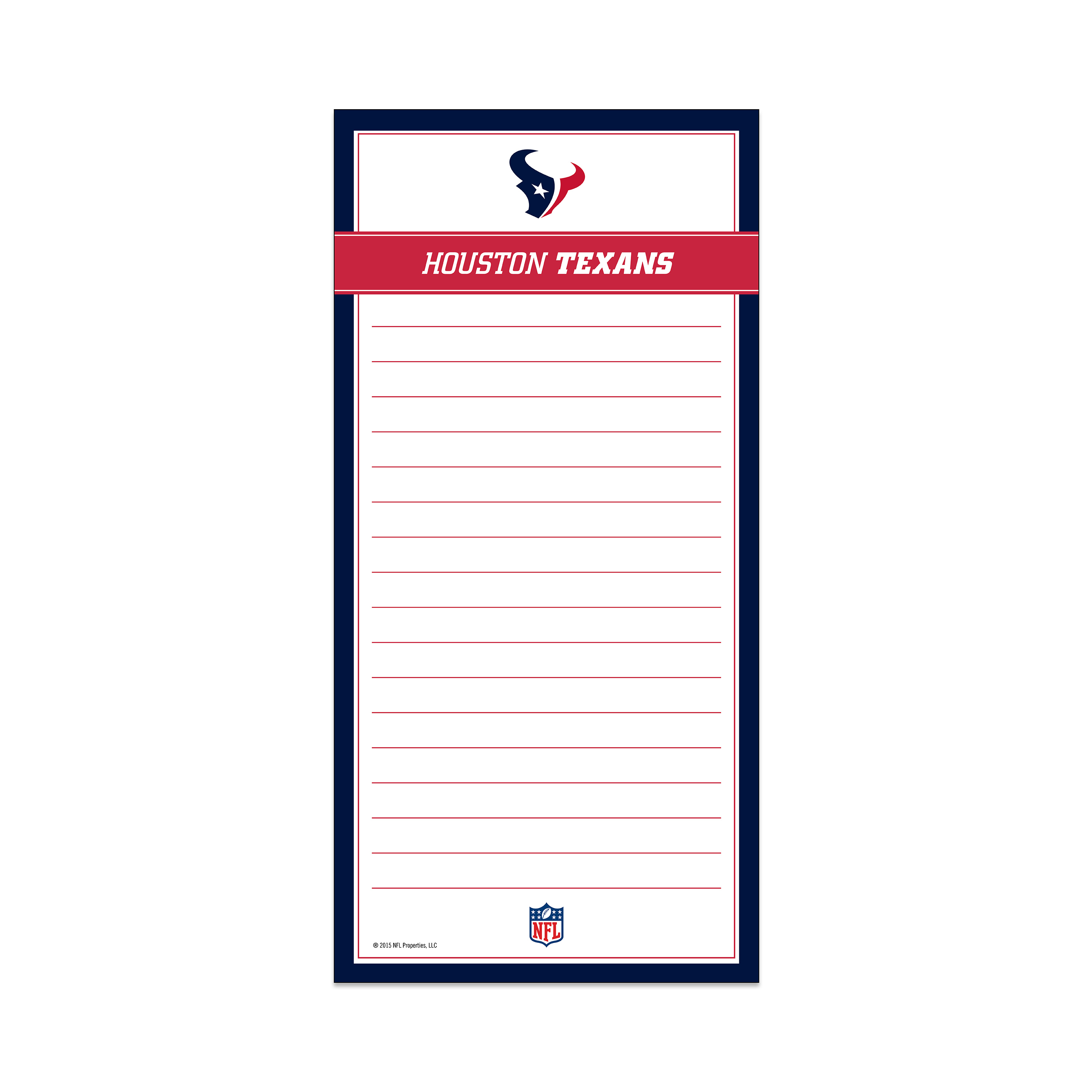 Magnetic List Pad Houston Texans