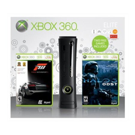 Refurbished Xbox 360 Elite 120GB With Forza 3 And Halo 3 ODST](xbox 360 slim black friday deals)