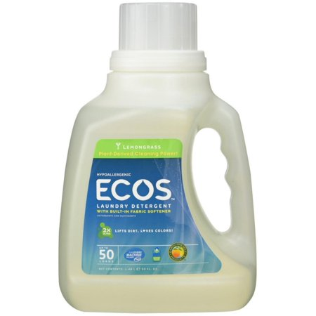 2 Pack - Earth Friendly Products Ecos Liquid Laundry Detergent, Lemongrass 50 oz Earth Friendly Products Ecos Laundry