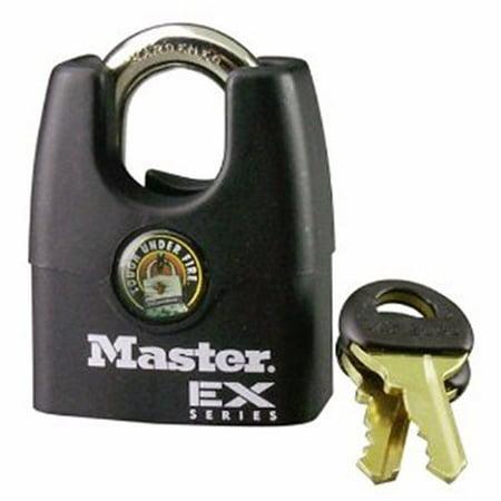 Universal Pin Padlock - Master 20740604 Master Lock 1Dex Ex Laminated Steel Pin Tumbler Padlock, 1-3/4-Inch