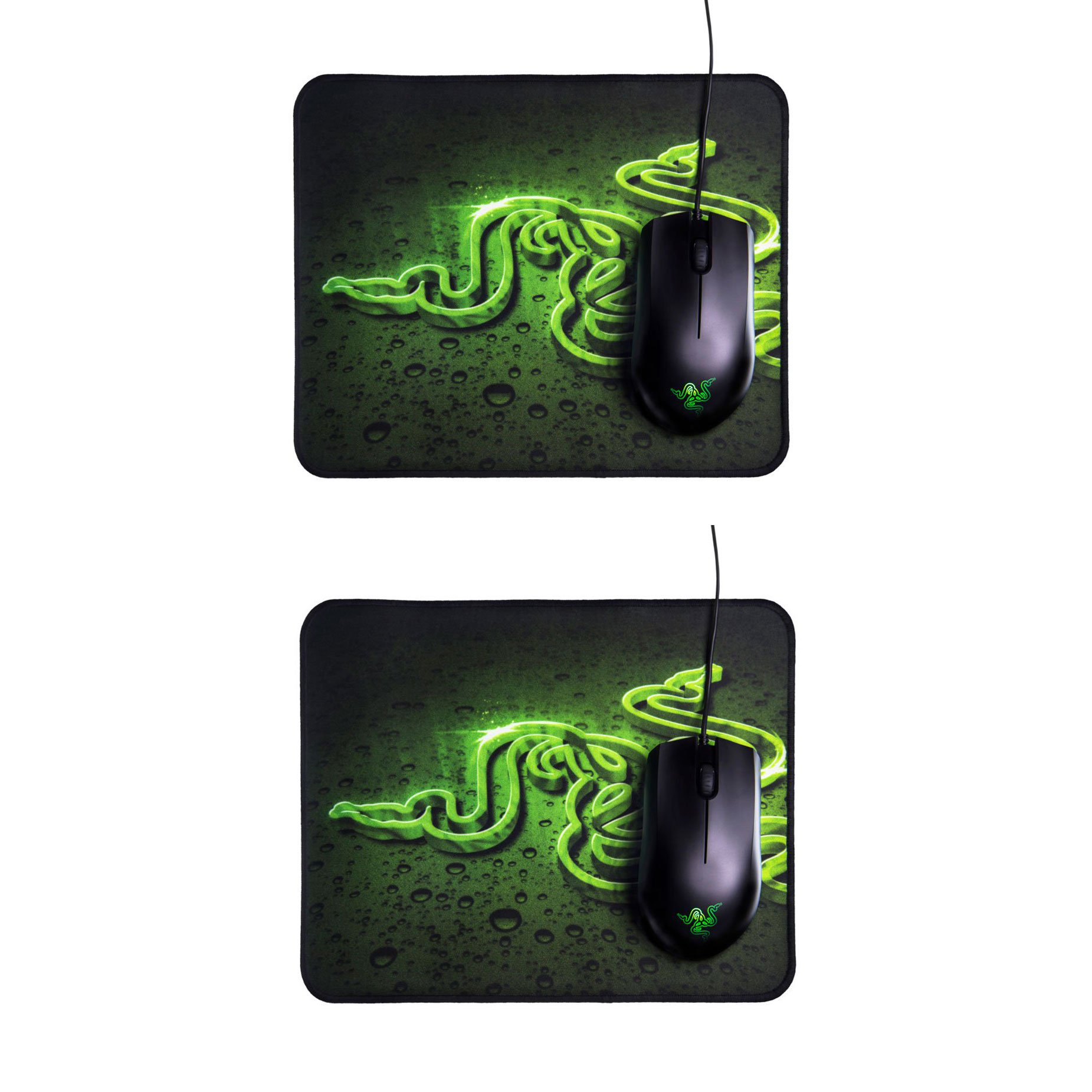 Razer Abyssus 2000 DPI Wired Mouse and Goliathus High Texture Mouse Pad (2 Pack)