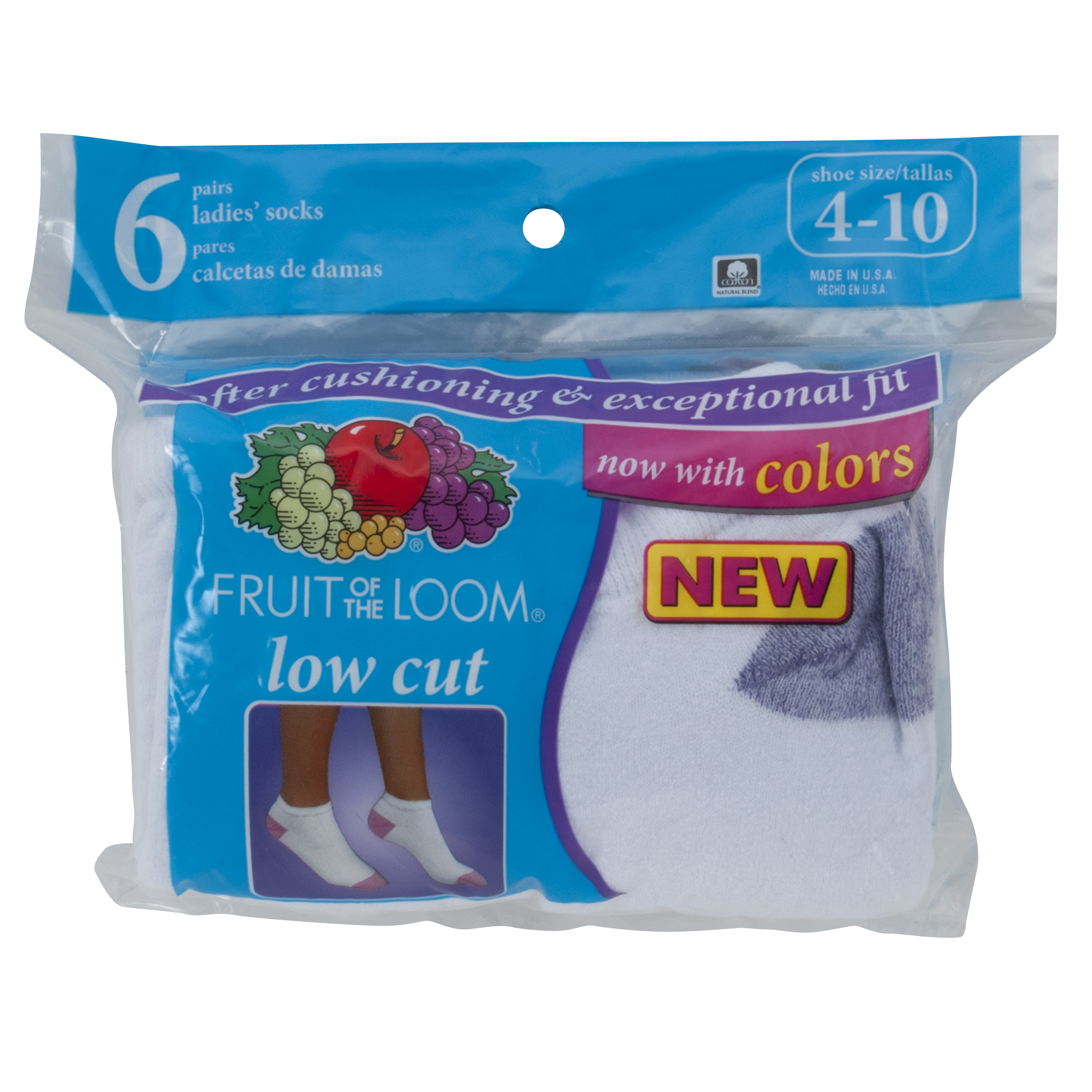 Womens Value Pack Low Cut Socks, 6 Pairs