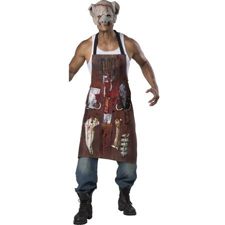 Chop Shop Butcher Adult Costume Meat Cutter Halloween Kit-Os