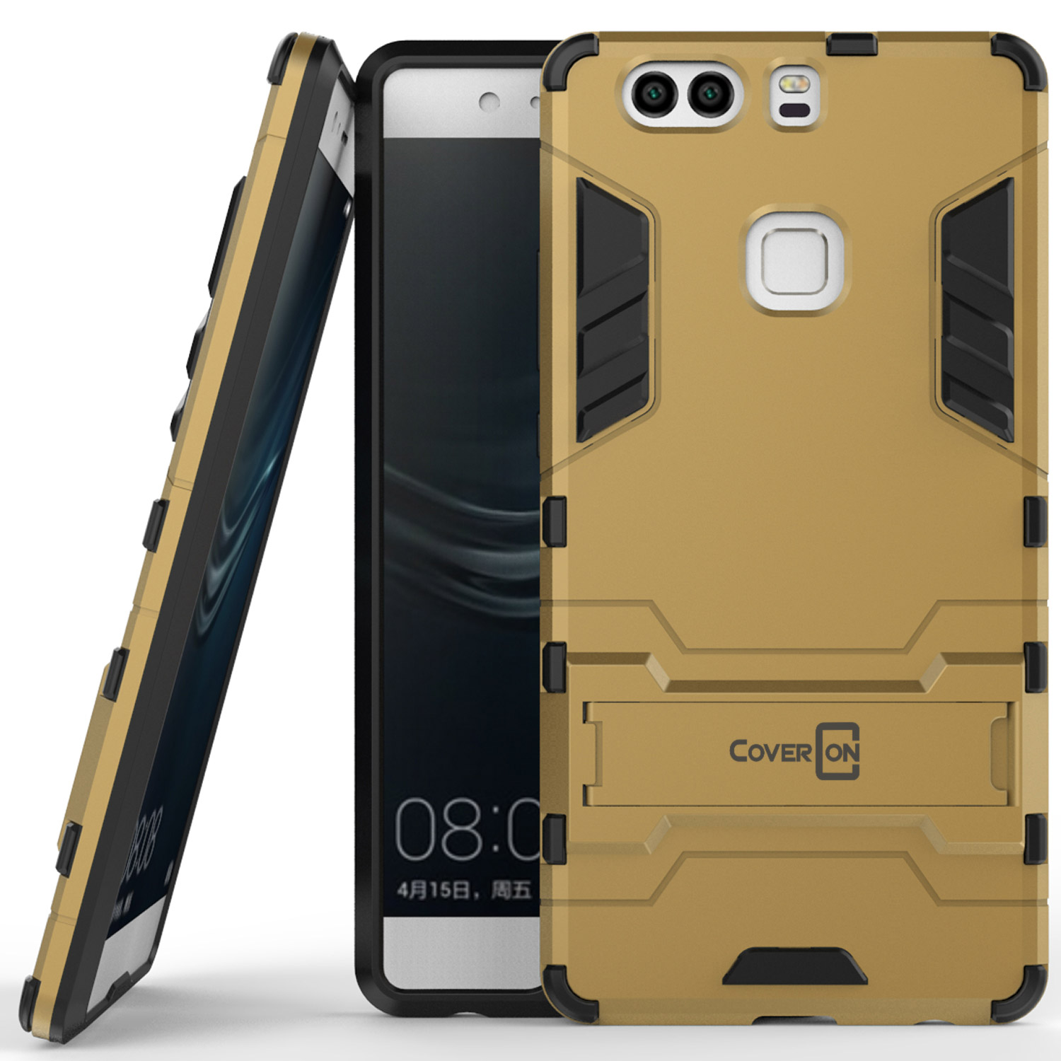 rivenditore all'ingrosso 09d7c 30e9f CoverON Huawei P9 Plus Case, Shadow Armor Series Hybrid Kickstand Phone  Cover