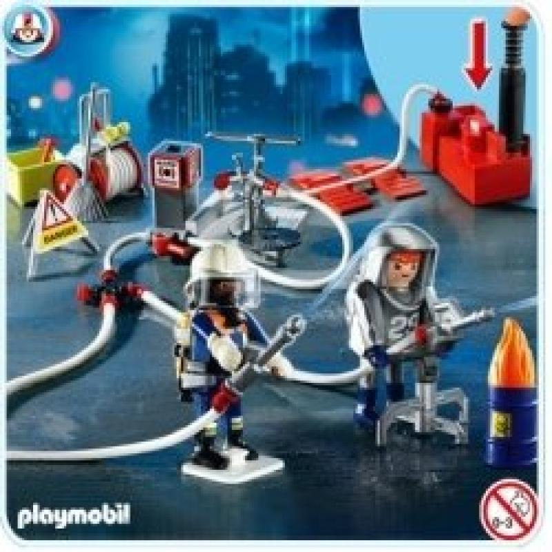 Playmobil Firefighters with Water Pump by