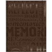 """Embossed Gloss Expressions Photo Album, 4.75"""" x 6.5"""", 100 Pocket, Memories, Brown"""
