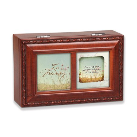 In Memory Memorial Remembrance Petite Keepsake Music Box
