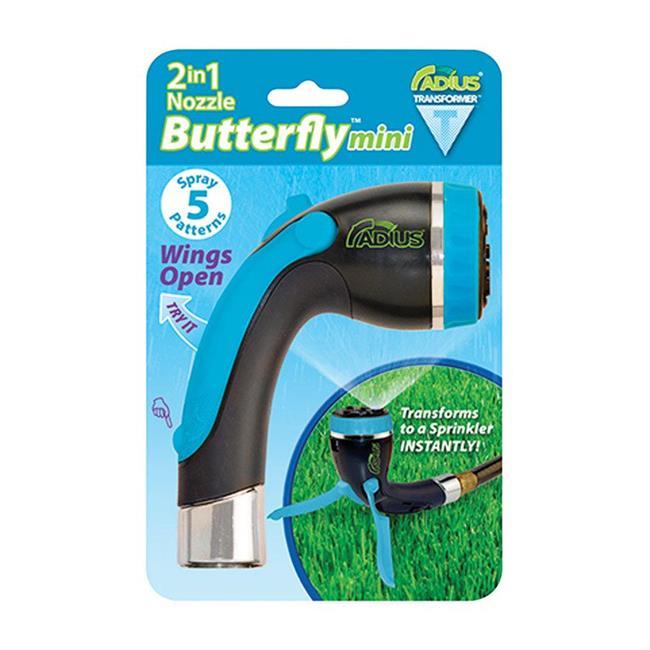 Radius Garden 7620560 Comfortable Single-Handed Operation 5 Pattern Metal Butterfly Nozzle, Radius - image 1 de 1