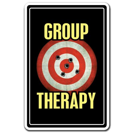 GROUP THERAPY Decal shooting range gun hobby | Indoor/Outdoor | 7