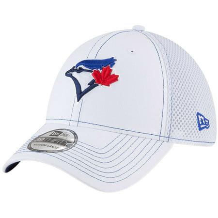 708855a22f9f Toronto Blue Jays New Era Team Turn Neo 39THIRTY Flex Hat - White -  Walmart.com