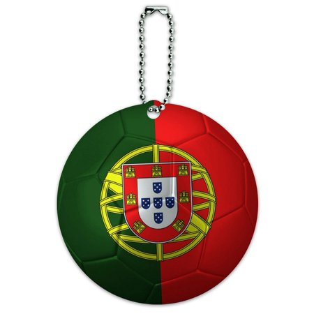 Graphics and More Portugal Flag Soccer Ball Futbol Football Round ID Card Luggage Tag