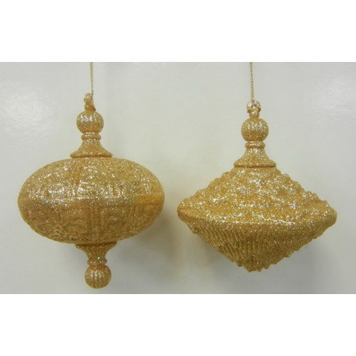 Queens of Christmas Oval Drop Ornament (Set of 2)