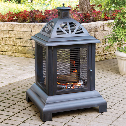 "Blue Rhino 28"" Outdoor Wood Burning Fire Place"