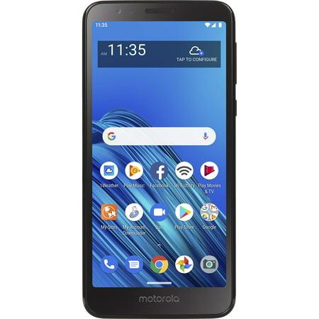 Straight Talk Motorola Moto E6, 32GB, Black - Prepaid Smartphone