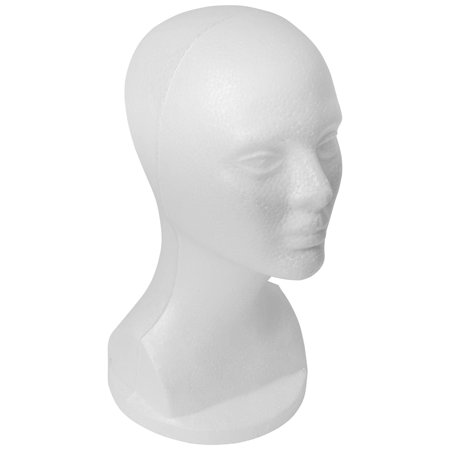 SHANY Styrofoam Model Head - Professional Hat and Wig White Foam Mannequin - 13