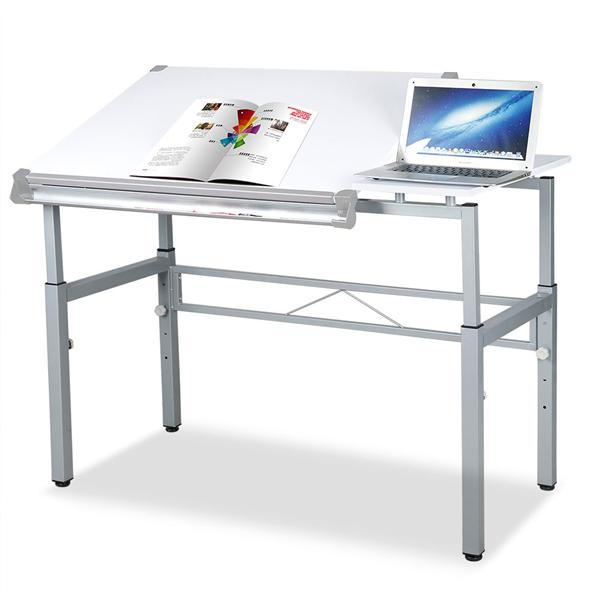 Yaheetech Multifunctional Drafting Table Art U0026 Craft Drawing Desk  Adjustable Workstation W/Dual Top Surface