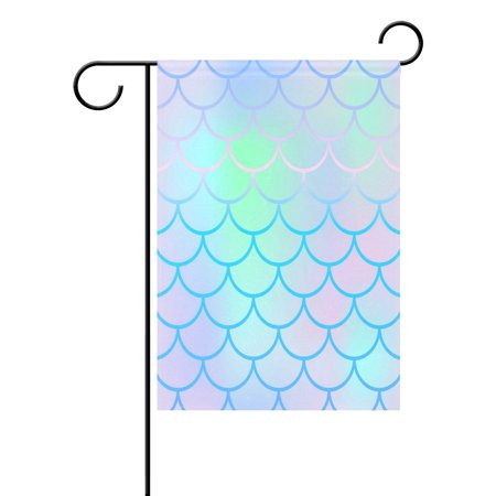 POPCreation Beautiful Pale Fish Scale Garden Flag Outdoor Flag Home Party 28x40 inches