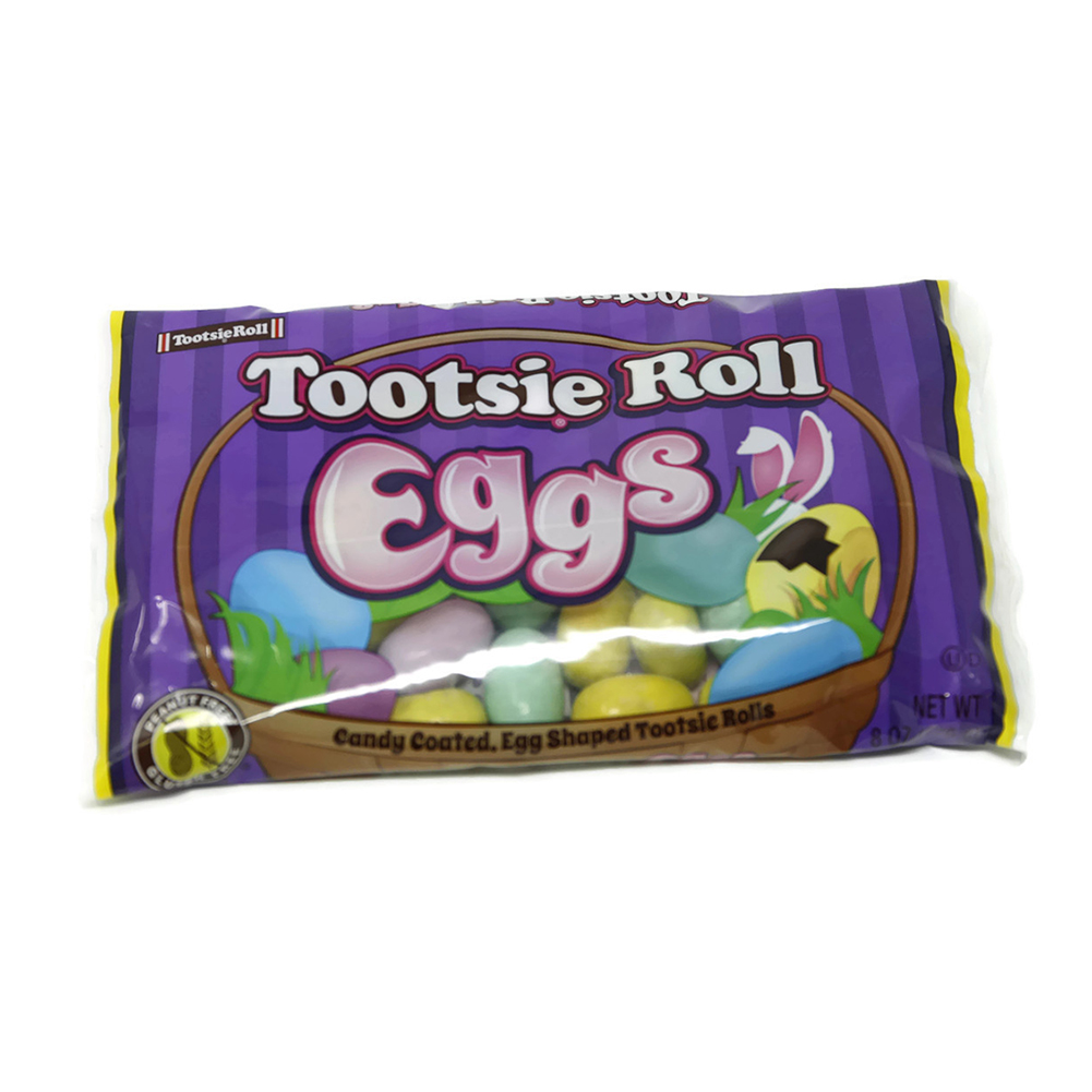 Candy Coated Tootsie Roll Eggs 8 oz.