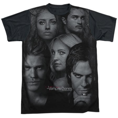 Vampire Diaries In The Woods Mens Sublimation Shirt with Black Back