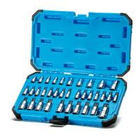 Capri Tools 30004 S2 Star Torx and External Socket Bit Set, 35-Piece