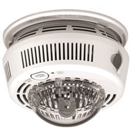 First Alert Photoelectric Smoke Alarm With Integrated Strobe Light, 120 Volt (Light Smoker)