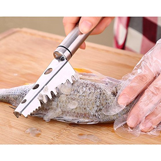 Fish scale scraper remover knife jagged polished heavy for Fish scale walmart