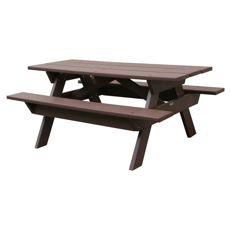 Eagle One Commercial 6 ft. Recycled Plastic Picnic Table - Brown