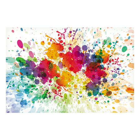 Paint Splatter Party Supplies (Fun Express - Paint Splattered Backdrop Banner - Party Decor - Wall Decor - Preprinted Backdrops - 3)